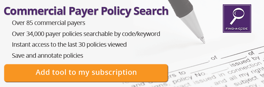 commercial payer policies searchable database