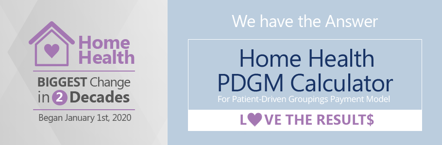 Home Health PDGM Calculator